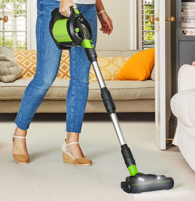 Convenient cordless cleaning